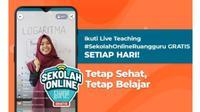 Ikuti Live Teaching Sekolah Online Ruangguru secara gratis setiap hari.
