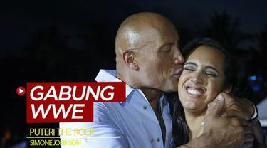 "Berita video mengenai Dwayne ""The Rock Johnson yang bahagia karena puterinya meneruskan dinasti keluarga dengan menandatangani kontrak dengan WWE."