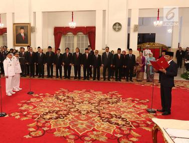 Presiden Jokowi Lantik Gubernur Kaltim dan Sumsel di Istana