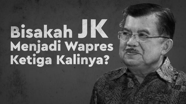 Wakil Presiden Jusuf Kalla atau JK mengajukan diri sebagai pihak terkait dalam uji materi di Mahkamah Konstitusi (MK) mempersoalkan Pasal 169 huruf n UU Pemilu yang membatasi masa jabatan presiden dan wakil presiden selama dua periode.