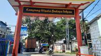 Pintu masuk Kampung Tehyan, Tangerang. (Liputan6.com/Pramita Tristiawati)