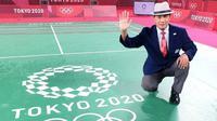 Wahyana, wasit dari Indonesia yang pimpin final tunggal putri Olimpiade Tokyo. (Instagram/@kabarjogja)