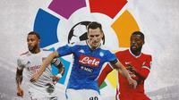 La Liga - Memphis Depay, Arkadiusz Milik, Georginio Wijnaldum (Bola.com/Adreanus Titus)