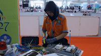 Peserta LKS SMK Nasional bidang keahlian Electronic Instalation/Stella Maris.