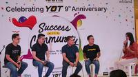 Ulang tahun ke-9, Young on Top menghadirkan delapan pembicara yang berbagi pengalaman sukses mereka. (Sumber foto: dok. Sasya Semitari)