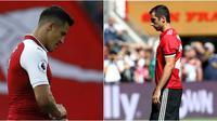 Alexis Sanchez dan Henrikh Mkhitaryan (AFP/Ian Kington/Ezra Shaw)
