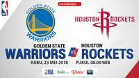 Jadwal NBA, Golden State Warrior Vs Houston Rockets. (Bola.com/Dody Iryawan)