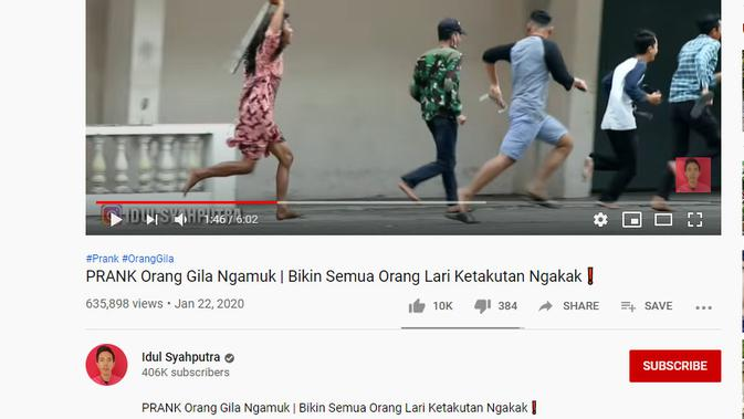 Cek Fakta Liputan6.com menelusuri klaim foto Jokowi mengejar dua orang