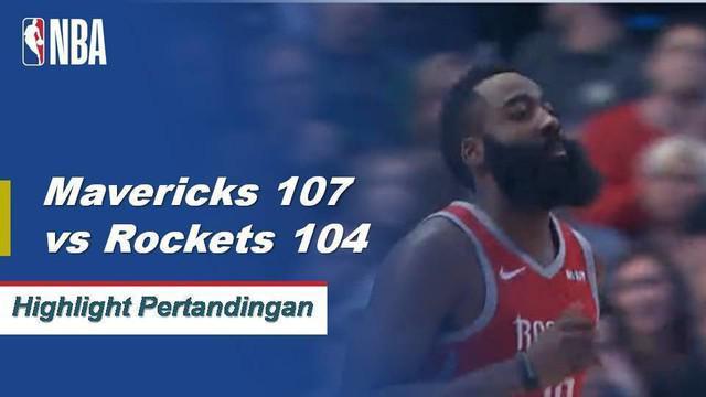 Luka Doncic mencetak 21 poin, DeAndre Jordan memasang 12 poin dan 20 rebound ketika Mavericks menyarangkan Rockets, 107-104.