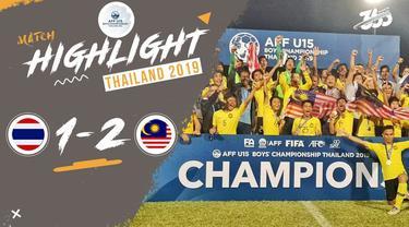 Berita video Malaysia U-15 menjadi juara Piala AFF U-15 2019 setelah pada partai final mengalahkan Thailand U-15 dengan skor 2-1,
