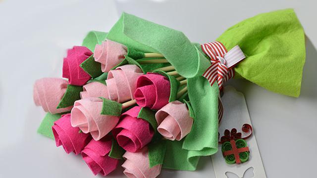 Hasil gambar untuk bunga dari kain flanel