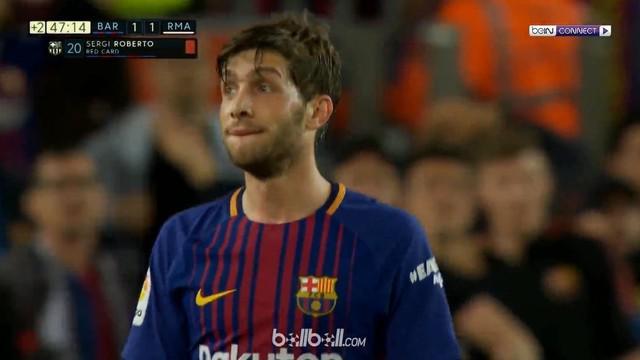 Berita video insiden antara Sergi Roberto dengan Marcelo dalam laga bertajuk El Clasico, Barcelona vs Real Madrid, di Camp Nou dalam lanjutan La Liga 2017-2018. This video presented by BallBall.