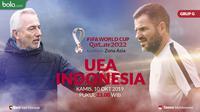 Kualifikasi Piala Dunia 2022 - UEA Vs Indonesia - Duel Pelatih Bert Van Marwijk Vs Simon McMenemy (Bola.com/Adreanus Titus)