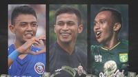 Liga 1 - Dedik Setiawan, Osvaldo Haay, Irfan Jaya (Bola.com/Adreanus Titus)