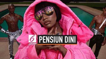 Baru ini, Nicki Minaj membuat pernyataan yang mengejutkan di akun twitter pribadinya. Ia mengatakan akan berhenti dari industri musik karena ingin membangun sebuah keluarga bersama kekasihnya. Ia juga dikabarkan akan menikah tahun ini.