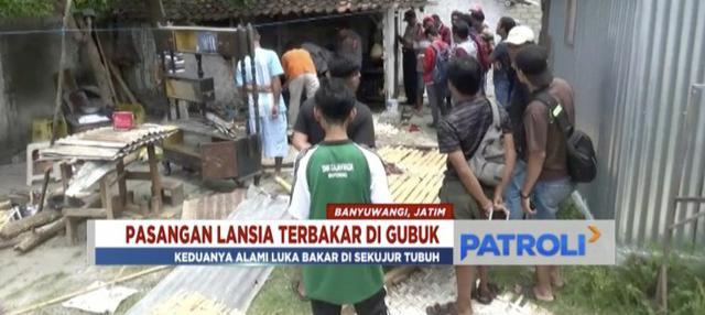 Pasutri lanjut usia ditemukan tewas terbakar di dalam rumah gubuk di Banyuwangi, Jawa Timur.