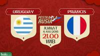 Piala Dunia 2018 Uruguay Vs Prancis (Bola.com/Adreanus Titus)
