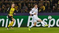 Winger Real Madrid, Gareth Bale cetak gol ke gawang Borussia Dortmund (Foto: Real Madrid)