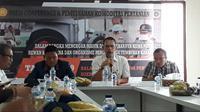 Konferensi pers dan pemusnahan komoditas pertanian pada Sabtu (30/3/2019) (Foto:Liputan6.com/Pramita T)