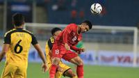 Duel Timnas Vietnam U-23 kontra Timnas Brunei U-23  di laga perdana Grup K Kualifikasi Piala AFC U-23 2020 di Stadion My Dinh, Hanoi, Jumat (22/3/2019). (Bola.com/Dok. VFF)