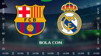 La Liga - Ilustrasi El Clasico - Logo (Bola.com/Adreanus Titus)