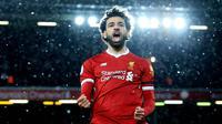5. Mohamed Salah (Liverpool) - 16 Gol (3 Penalti). (AFP/Lindsey Parnaby)