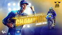 Joan Mir juara dunia MotoGP 2020. (Twitter MotoGP)