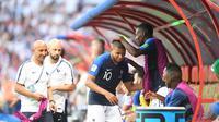 Kylian Mbappe menjadi bintang kemenangan Prancis atas Argentina pada laga babak 16 besar Piala Dunia 2018. (doc. FIFA)