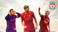 Liverpool - Jordan Henderson, Steven Gerrard, Sami Hyypia (Bola.com/Adreanus Titus)