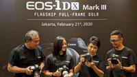 Peluncuran Canon EOS-1D X Mark III di Jakarta, Jumat (21/2/2020). Liputan6.com/Yuslianson