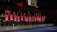 Tim bulutangkis Indonesia berhasil menjuarai Piala Thomas 2020. (dok. Vidio)