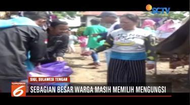 Yayasan Pundi Amal dan Peduli Kasih SCTV-Indosiar salurkan 2 ribu nasi bungkus untuk korban gempa di Palu dan Sigi, Sulawesi Tengah.