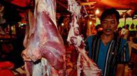 Pedagang daging sapi di Bengkulu (Liputan6.com / Yuliardi Hardjo Putro)