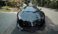 Lamborghini Aventador milik Raffi Ahmad yang dimodif menyerupai mobil Batman (YouTube/ RansEntertainment)