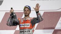 Pembalap Ducati Corse, Andrea Dovizioso segera memulai pembicaraan kontrak baru usai balapan MotoGP Qatar 2018. (Twitter/Ducati Corse)