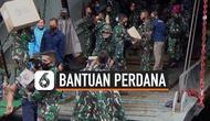 Lantamal enam TNI AL bersama Pemprov Sulsel mengirimkan bantuan makanan, tenda, serta penerangan pada korban gempa Majene pada Jumat (15/1) sore, dengan menggunakan kapal KRI Teluk Ende 517.