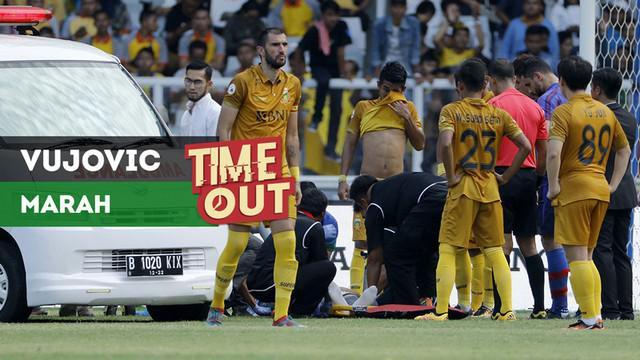 Berita video Time Out kali ini soal kemarahan bek anyar Bhayangkara FC, Vladimir Vujovic, kepada striker FC Tokyo.