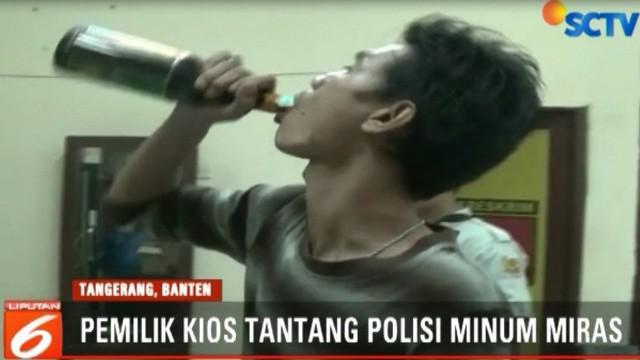 Dalam razia di lima titik rawan peredaran miras, polisi mengamankan 15 dus minuman keras berbagai merek.