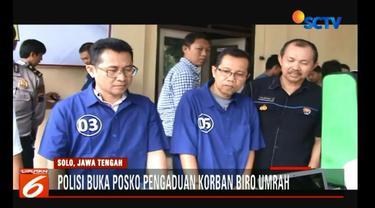 Hingga kini Jumlah calon jemaah umrah yang dirugikan Biro Umrah Hannien Tour mencapai 1.800 orang di 10 kota di Indonesia.