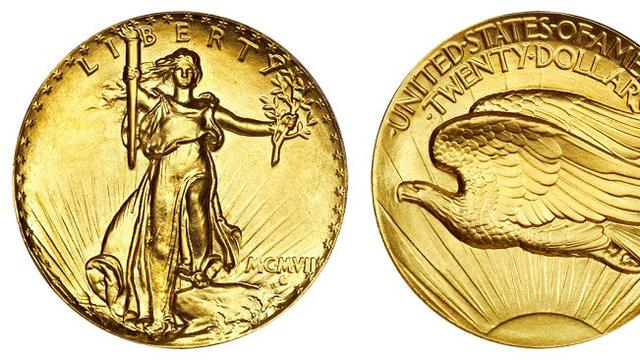 1907 Saint-Gaudens Double Eagle Ultra High Relief (Brilio.net)