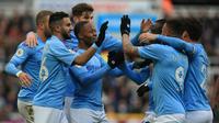 Manchester City gagal mempertahankan keunggulan saat menghadapi Newcastle United. (AFP/Lindsey Parnaby)