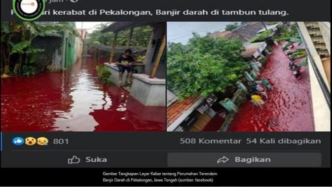 Klaim banjir darah melanda pemukiman warga di Pekalongan