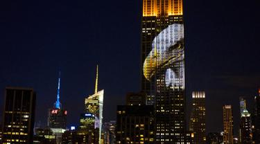 Hewan-hewan Langka Diproyeksikan di Gedung Empire State