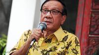 Akbar Tandjung mengusulkan 6 nama untuk dijadikan sebagai Cawapres untuk pilpres 9 Juli mendatang (Liputan6.com/Faizal Fanani)