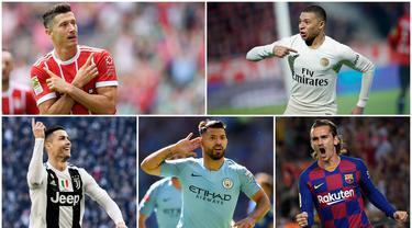 Bomber haus gol menjadi dambaan klub sepak bola di dunia nyata maupun dalam dunia gim. Berikut 7 striker tengah terbaik pada gim eFootball PES 2020 versi Real Sports101. (Foto Kolase AP dan AFP)