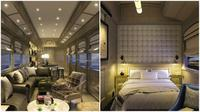 Interior mewah rancangan Inge Moore. Yang paling membuatnya istimewa adalah pengalaman berada dalam hotel mewah selagi para penumpang terlarut dalam pemandangan indah. (Sumber Belmond via Daily Mail)