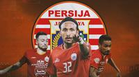 Persija Jakarta - Marc Klok, Rohit Chand, Ramdani Lestaluhu (Bola.com/Adreanus Titus)