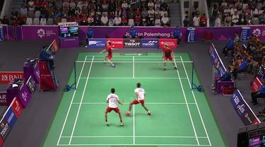 Barikut ini berita video pertandingan final badminton di nomor ganda putra yang menciptakan All Indonesian Final