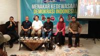 Diskusi yang dihadiri tim BPN Prabowo-Sandi dan TKN Jokowi-Ma'ruf. (Liputan6.com/ Putu Merta Surya Putra)