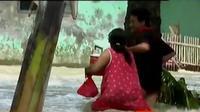 Desa Pantai Bhakti menjadi lokasi terparah dari empat desa yang terdampak banjir akibat jebolnya tanggul Sungai Citarum.